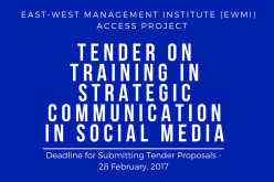 Tender on Training in Strategic Communication in Social Media