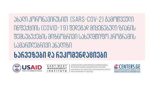 Legal Analysis and Recommendations on Government's Decree #286 (On Compensations for Citizens who lost Income due to Pandemic)